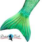 Dutch Tails zeemeermin staart schubben groen
