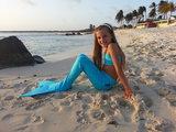 Dutch Tails zeemeermin set blauw