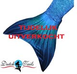 Zeemeermin staart schubben blauw_
