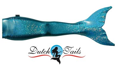 Dutch Tails sparkel zeemeermin set blauw